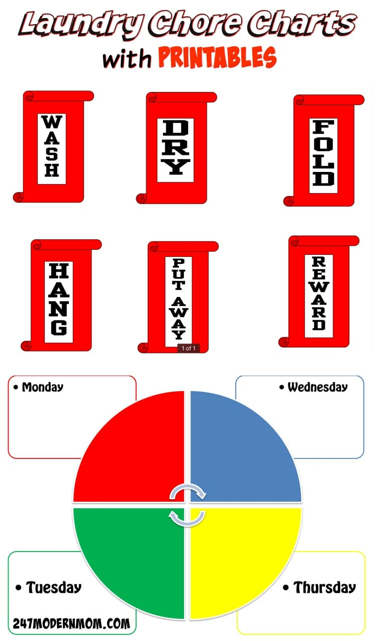Laundry Chore Charts with Printables