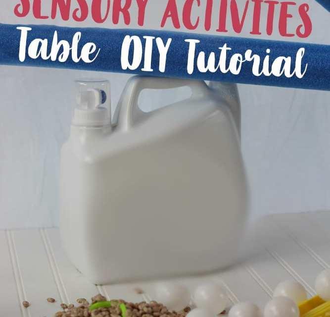 Sensory Activities: DIY Table Tutorial