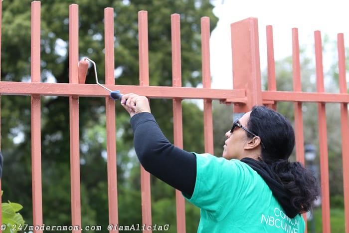 Comcast Cares Day Fence