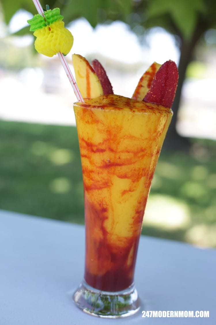 mango smoothie with chamoy