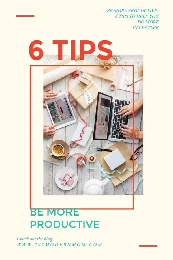 Most of us want to be more productive! These 6 tips will get you started, today! Feel like there is never enough time? This will help!