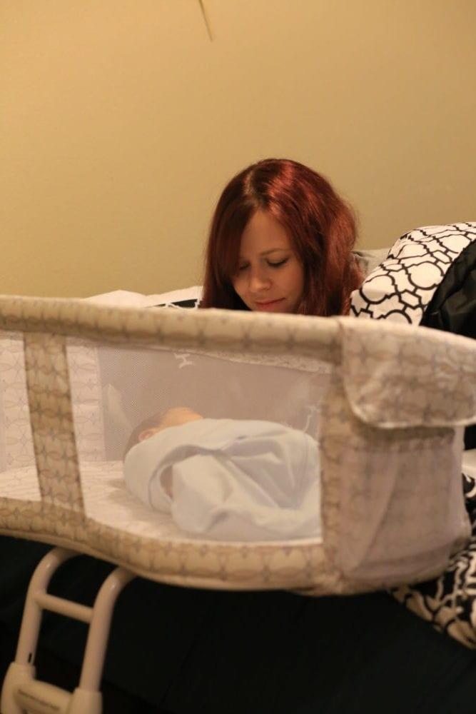 bedside bassinet side wall