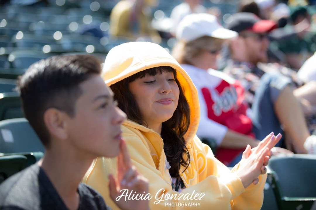 Oakland Athletics celebrates Cesar Chavez Day Angie & PEdro
