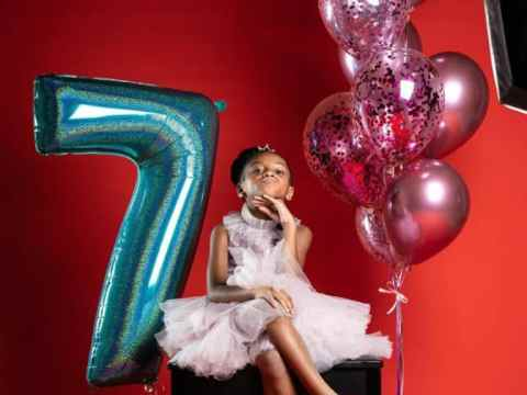 Peter Okoye and Wife Celebrate Daughter's 7th Birthday (Photos)
