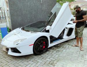 Peter Okoye Shows Off His Expensive Lamborghini Aventador Sport Car