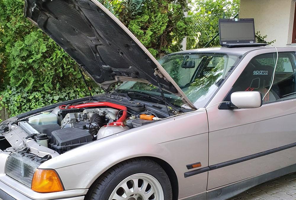 Fehlerspeicher auslesen beim BMW E36 mit Inpa