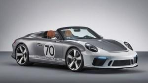 Conceptul Porsche 911 Speedster, cadou la cei 70 de ani ai companiei