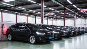 70% dintr-un milion de curse taxi, la aeroportul din Amsterdam, au fost cu Tesla