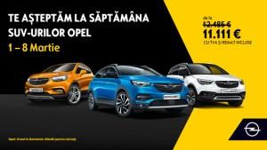 SĂPTĂMÂNA SUV-URILOR OPEL