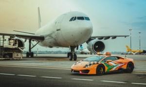 Un Lamborghini Huracan, pentru aeroportul din Bologna