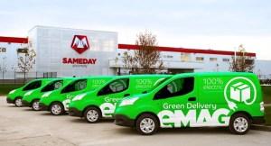 eMAG inaugurează livrarea cu automobile 100% electrice