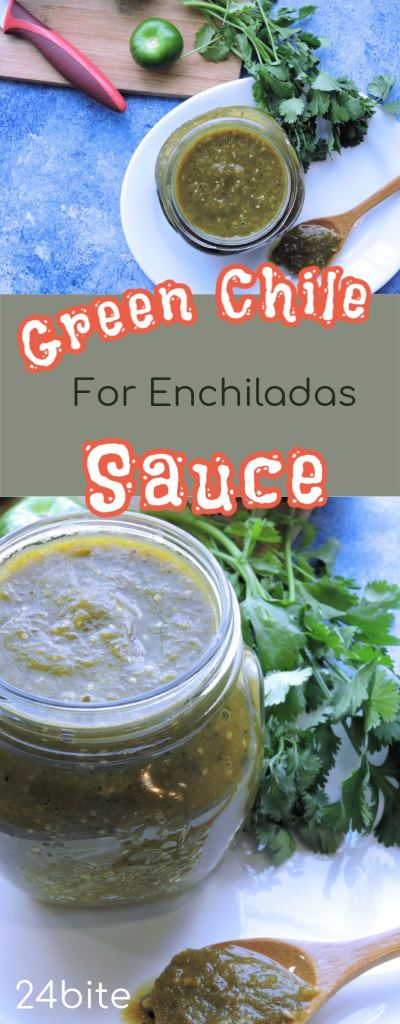 24Bite Recipe: Green Enchilada Sauce with Roasted Chiles and Tomatillos Recipe by Christian Guzman