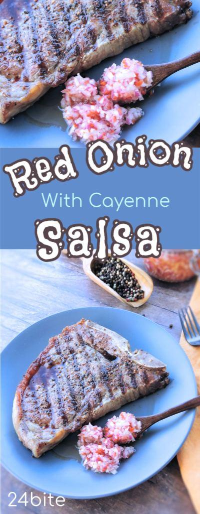 24Bite Recipe: Red Onion Salsa with Chiles Recipe by Christian Guzman
