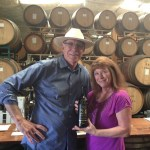 24 BRIX Owner Paul Schmitz with the Laura the first visitor to the Tasting Room!