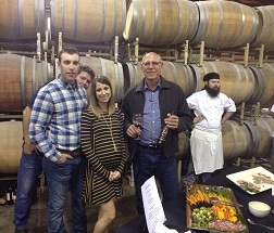 AboutUs Brett Emily Paul wine maker reception