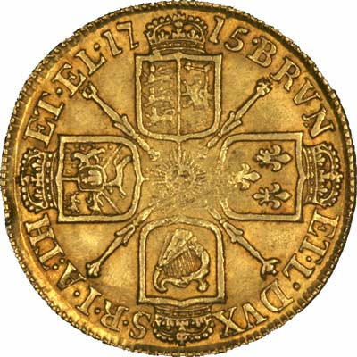 Reverse of 1715 George I Guinea
