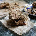 Crunchy Sun Butter Granola Bars with Hemp Hearts