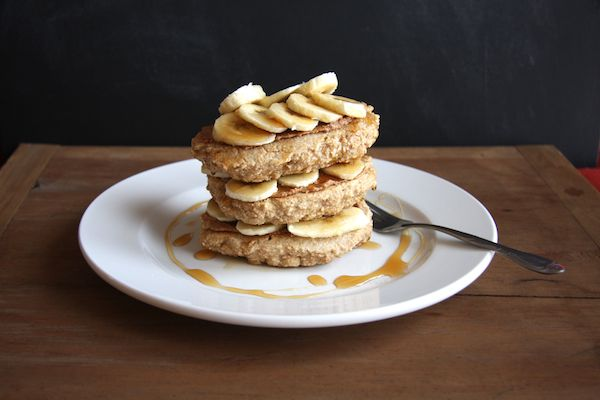 Almond Butter & Banana Stuffed Whole Wheat Pancakes I 24 Carrot Life