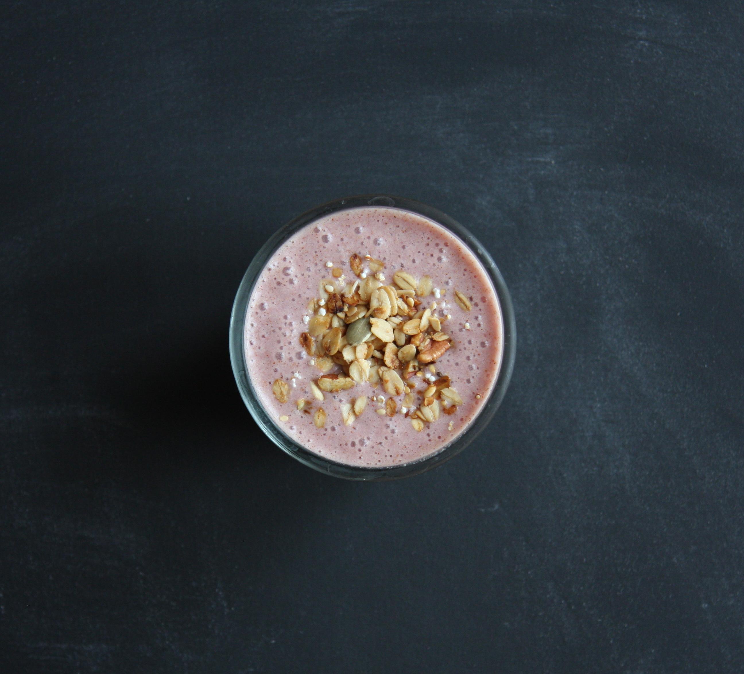 Strawberry Protein Smoothie I 24 Carrot Life