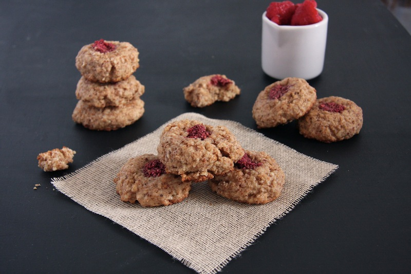 Chia Jam Almond Thumbprint Cookies I 24 Carrot Life