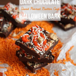 Dark Chocolate Quest Peanut Butter Cup Halloween Bark