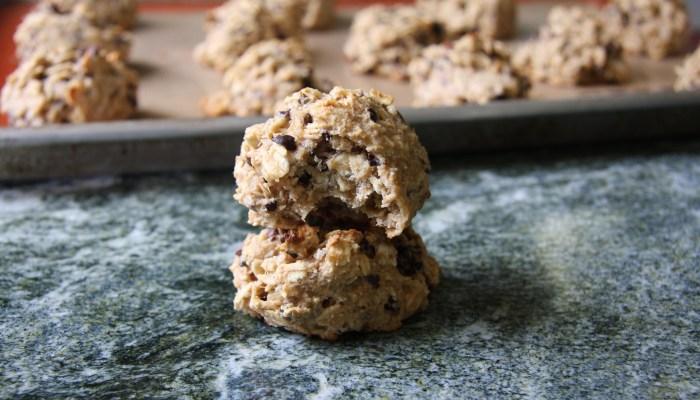 Peanut Butter, Banana & Cacao Nib Cookies