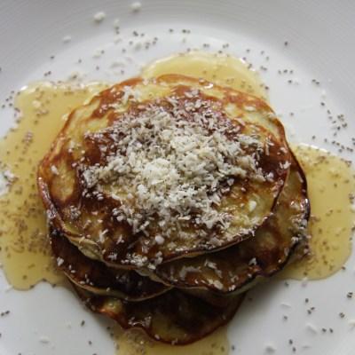 Two Ingredient Protein Pancakes