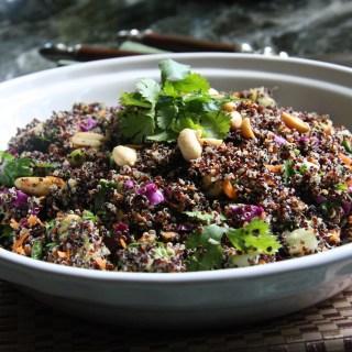 Asian Quinoa Salad with Cilantro Coconut Dressing