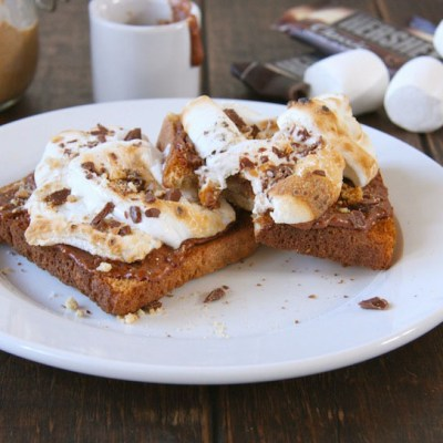 Chocolate Almond Butter S'mores Toast