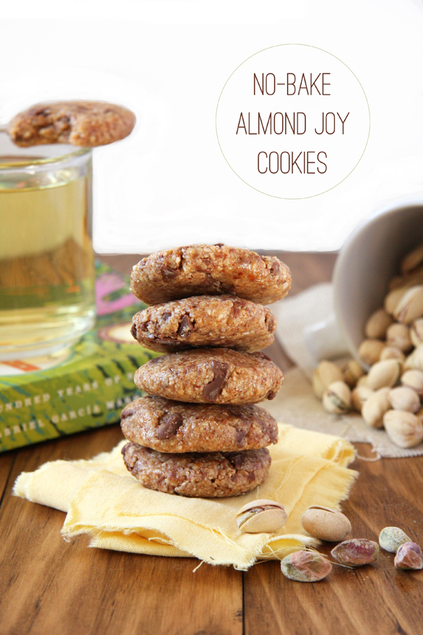 Pistachio Pairings: No Bake Almond Joy Cookies, Homemade Mint Tea, and In Shell Pistachios I 24 Carrot Life