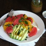 Spring Citrus Salad with Honey Mint Vinaigrette // 24 Carrot Life
