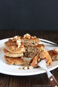 Horchata Pancakes // 24 Carrot Life #healthy