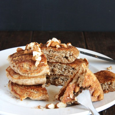 Fluffy Whole Wheat Horchata Pancakes