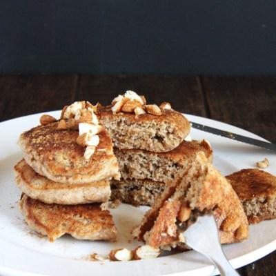 Fluffy Whole Wheat Horchata Pancakes