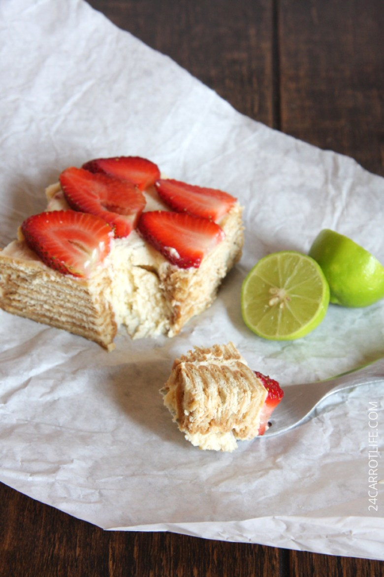 Mexican Lime Icebox Cake // 24 Carrot Life #mexican #carlota #lime