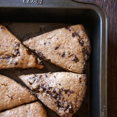 Whole Wheat Chai Chocolate Chip Scones {Recipe Redux}