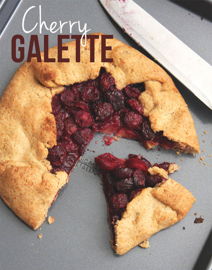 Cherry Galette // 24 Carrot Life #vegan #wholewheat #summer #healthy