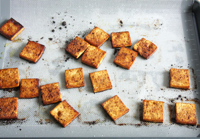 Baked Balsamic Tofu // 24 Carrot Life #vegetarian #vegan #healthy