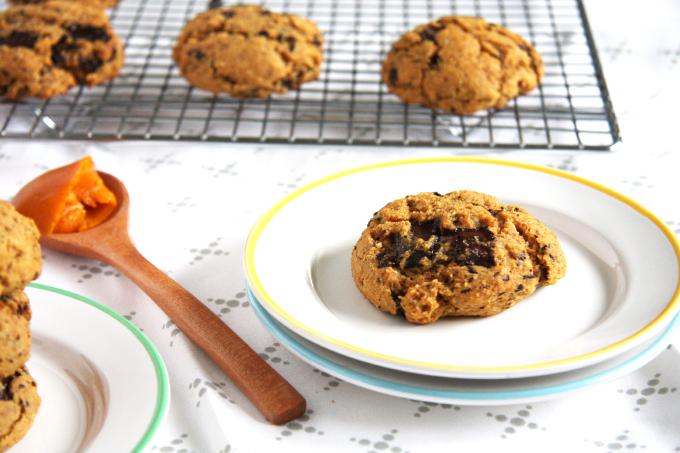 Pumpkin Chocolate Chip Cookies // 24 Carrot Life #glutenfree #pumpkin #chocolate