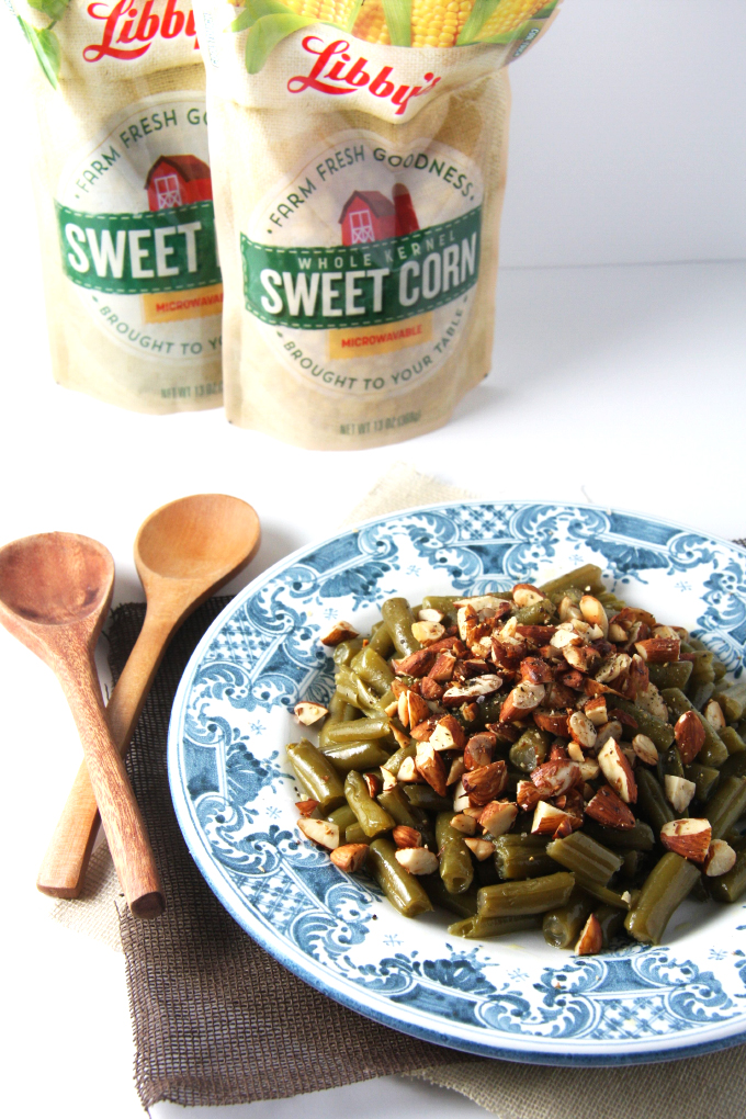 Super Simple Almond Green Beans // 24 Carrot Life #sponsored #reciperedux