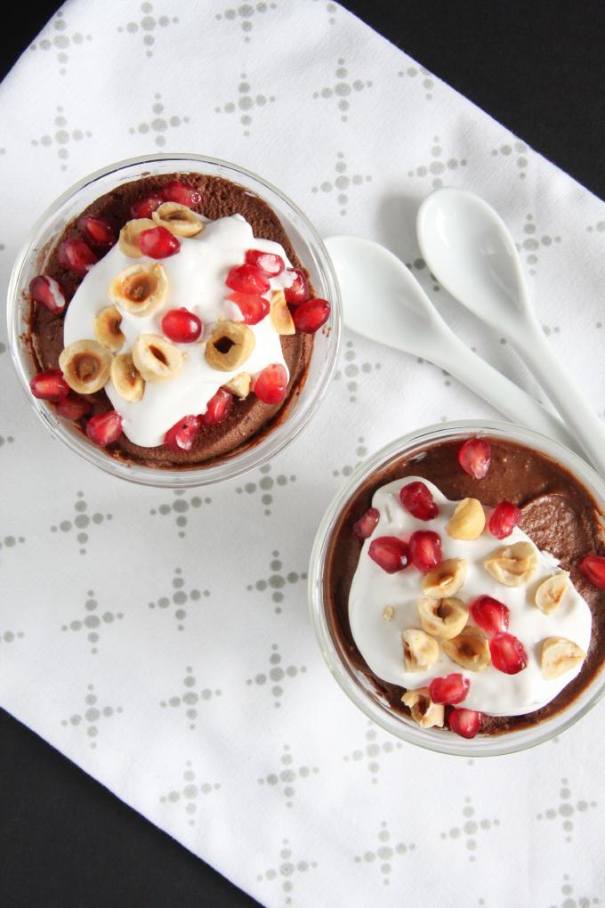 Chocolate Hazelnut Mousse Cups // 24 Carrot Life #vegan #glutenfree #healthy #chocolate