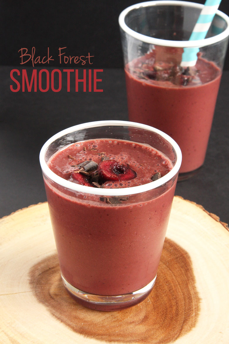 Black Forest Smoothie // 24 Carrot Life #cherries #chocolate #smoothie #vegan