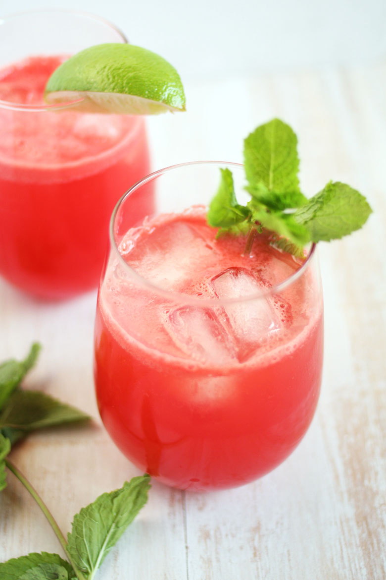 Watermelon Cocktail // 24 Carrot Life #watermelon #summer #rum