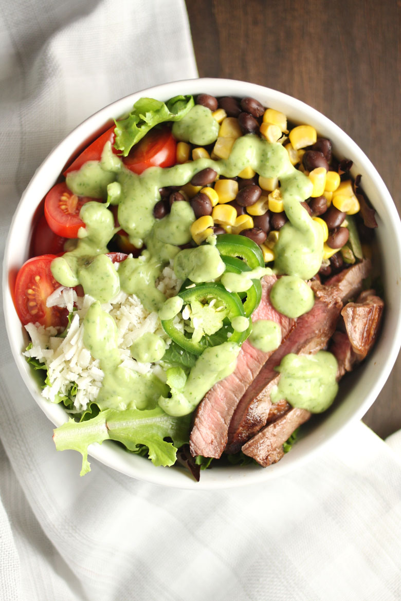 Midwestern Steak Salad // 24 Carrot Life #sponsored #steak #mexicanfood #salad