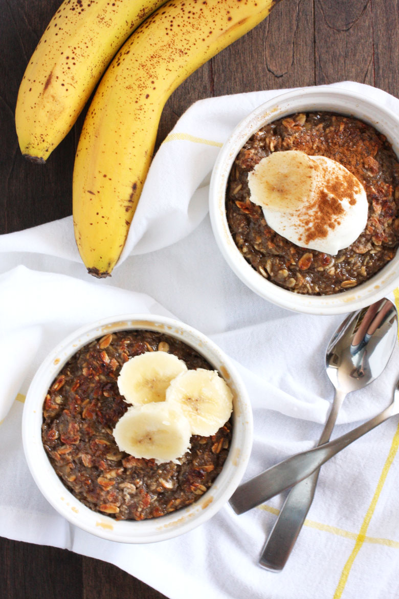Banana Oatmeal Brulee // 24 Carrot Life #oats #healthy #glutenfree #vegan