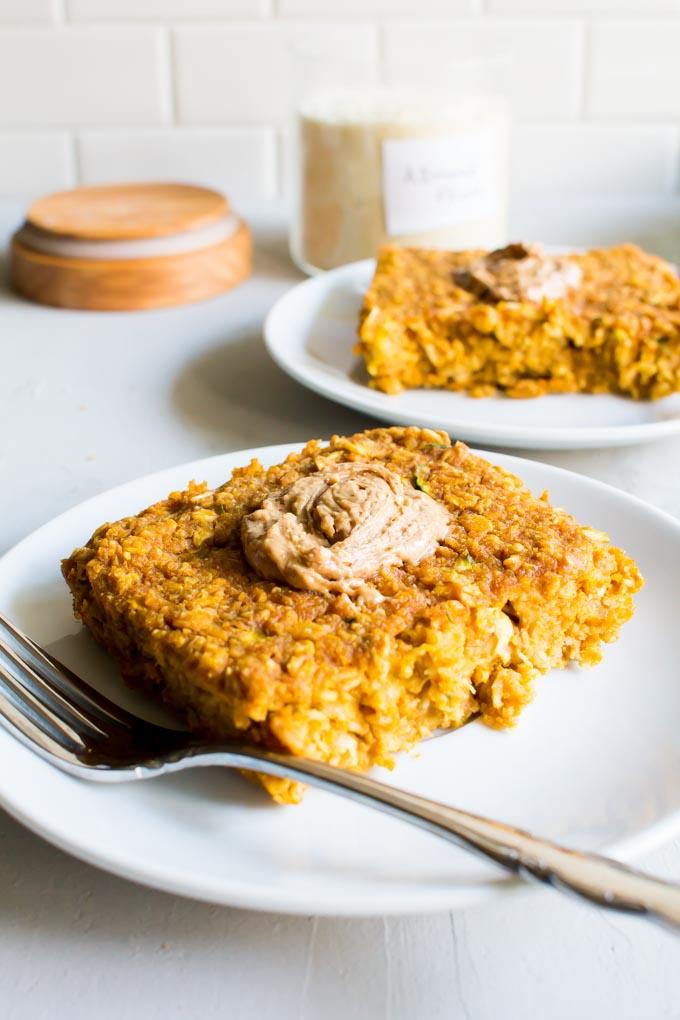 pumpkin zucchini breakfast bake