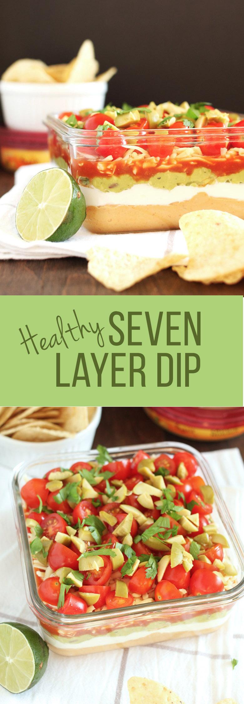 Healthy Seven Layer Dip // @24carrotlife #healthy #sponsored #sabra
