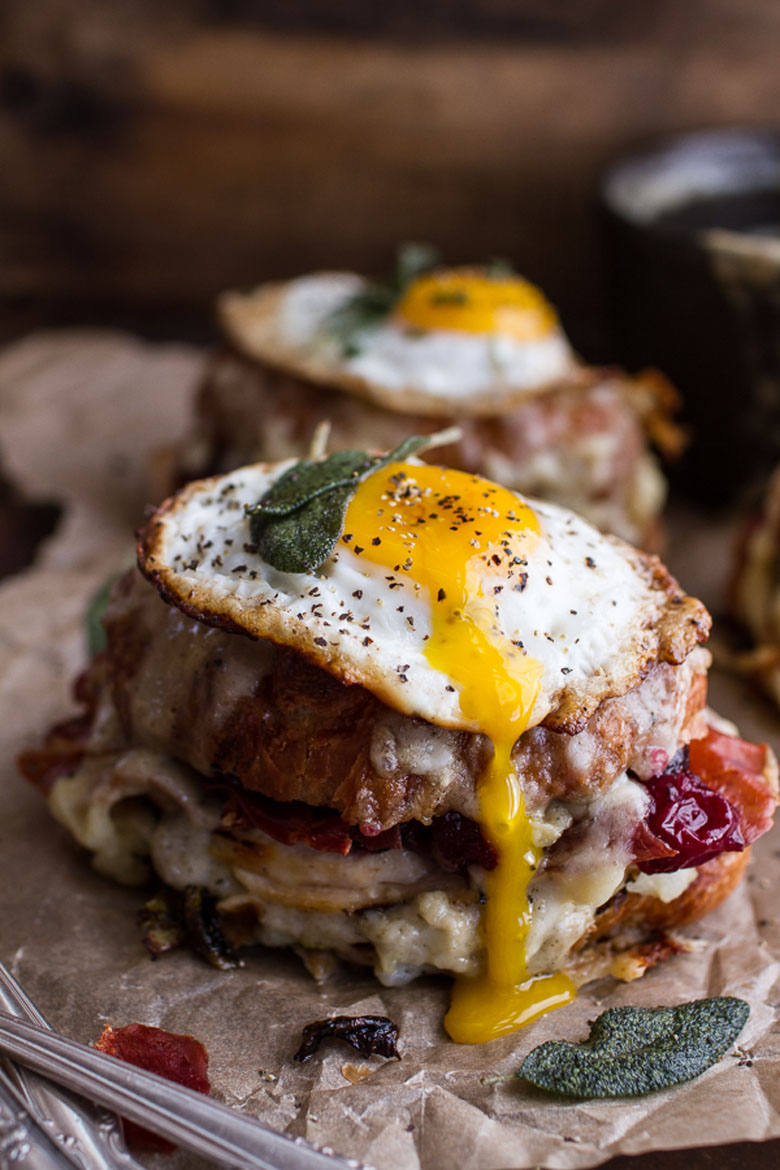 The Thanksgiving Leftovers Croque Madame