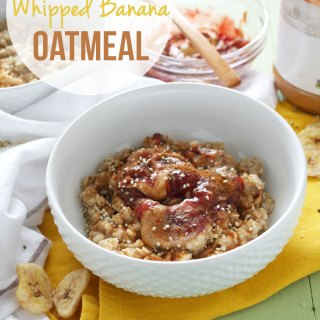 PB & J Whipped Banana Oatmeal
