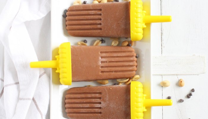 Skinny Chocolate Peanut Butter Popsicles + NEWS!